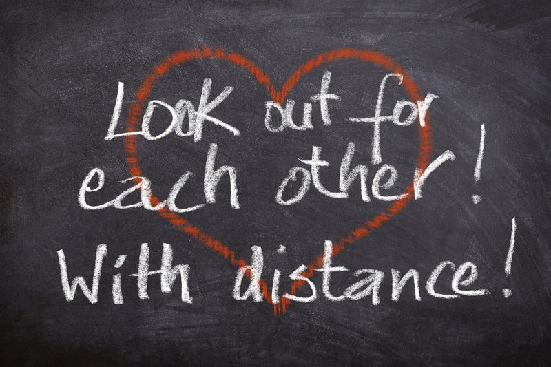 Soziale Distanz wahren - im Zusammenhalt vereint
